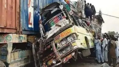 Photo of Traumatic accident: Bus and truck collide in Pakistan, 30 passengers killed, more than 40 injured