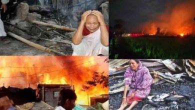 Photo of 29 houses of Hindus burnt in Bangladesh amid protests over Durga Puja violence, situation tense